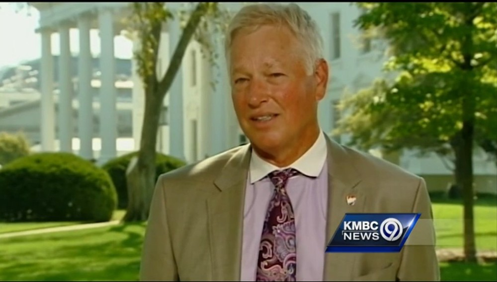 CEO Jim Allen on the North Lawn of the White House during an interview with KMBC 9