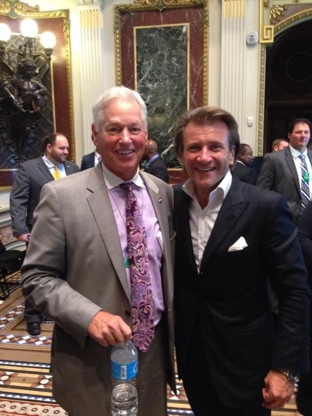 "CEO Jim Allen and Shark Tank's Robert Herjavec at the White House ""Champions of Change"" event"