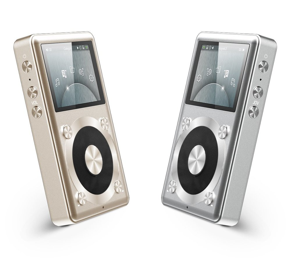 The Fiio X1 budget aduiophile DAP comes in the choice of silver or rose gold colour options.