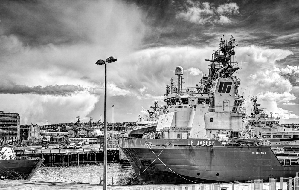 The ship UP Jasper Docked in Aberdeen Harbour Scotland - Taken with the Sigma DP2