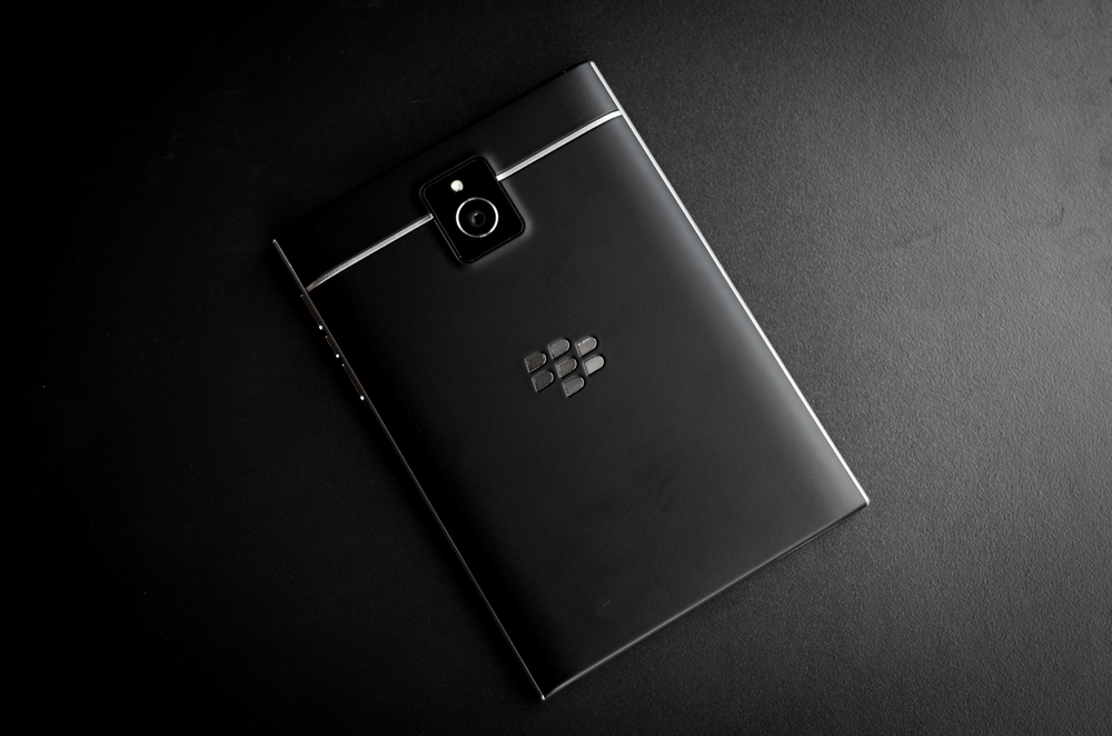 The Blackberry Passports new soft touch back replaces the carbon of the Q10