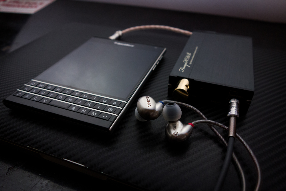 Blackberry Passport, Firestone Amp RHA t10i earphones!