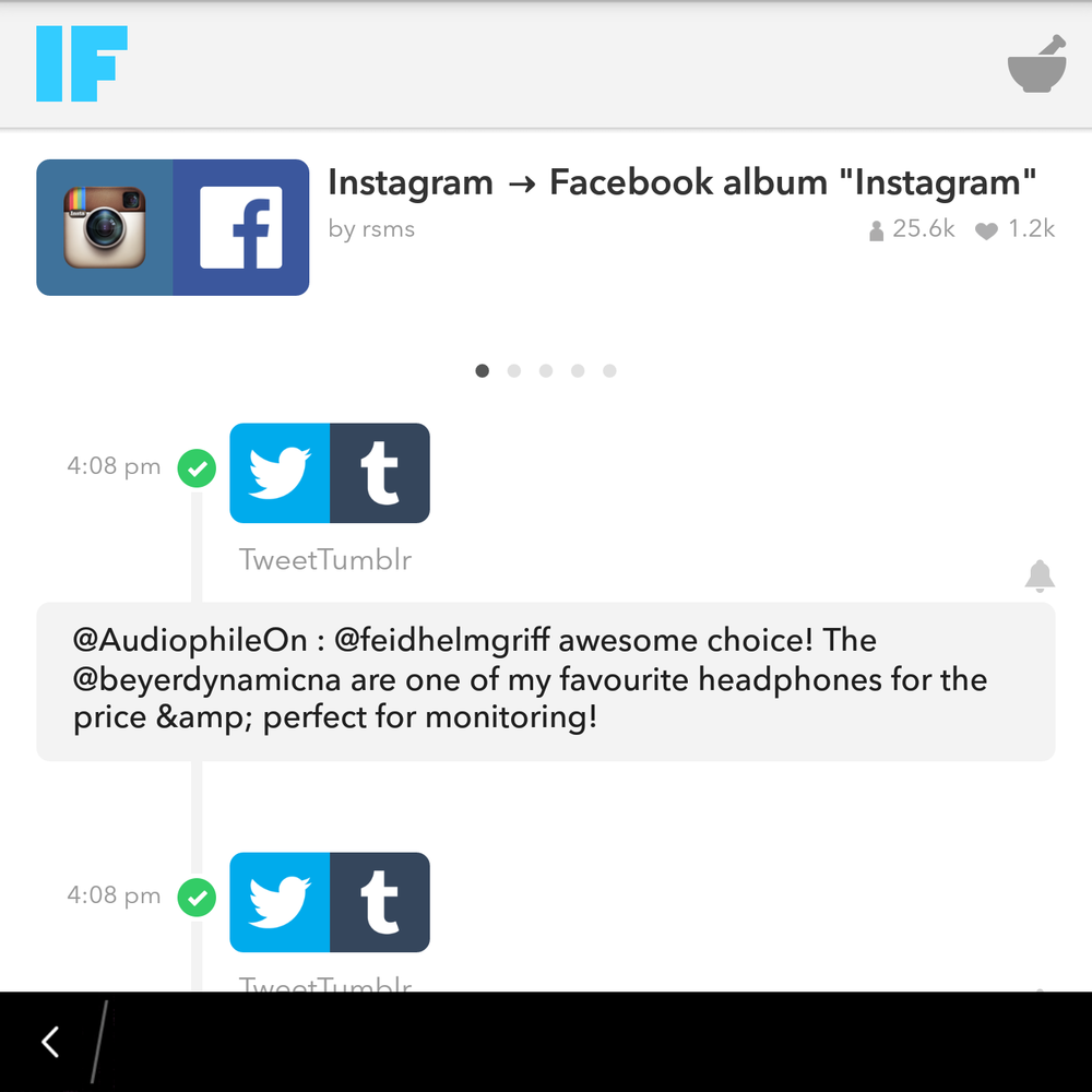 IFTTT on Blackberry Passport Productivity