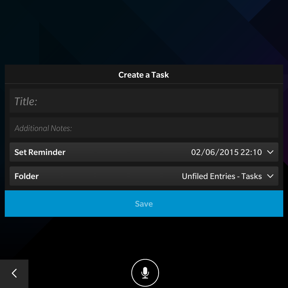 Best notetaking app for blackberry passport reminders