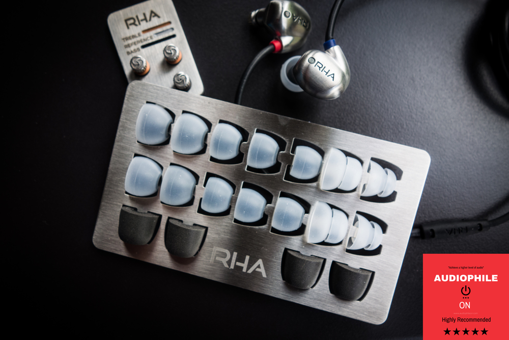 RHA T20 Review - Plenty of tuning and fit options with the eartips and filters.