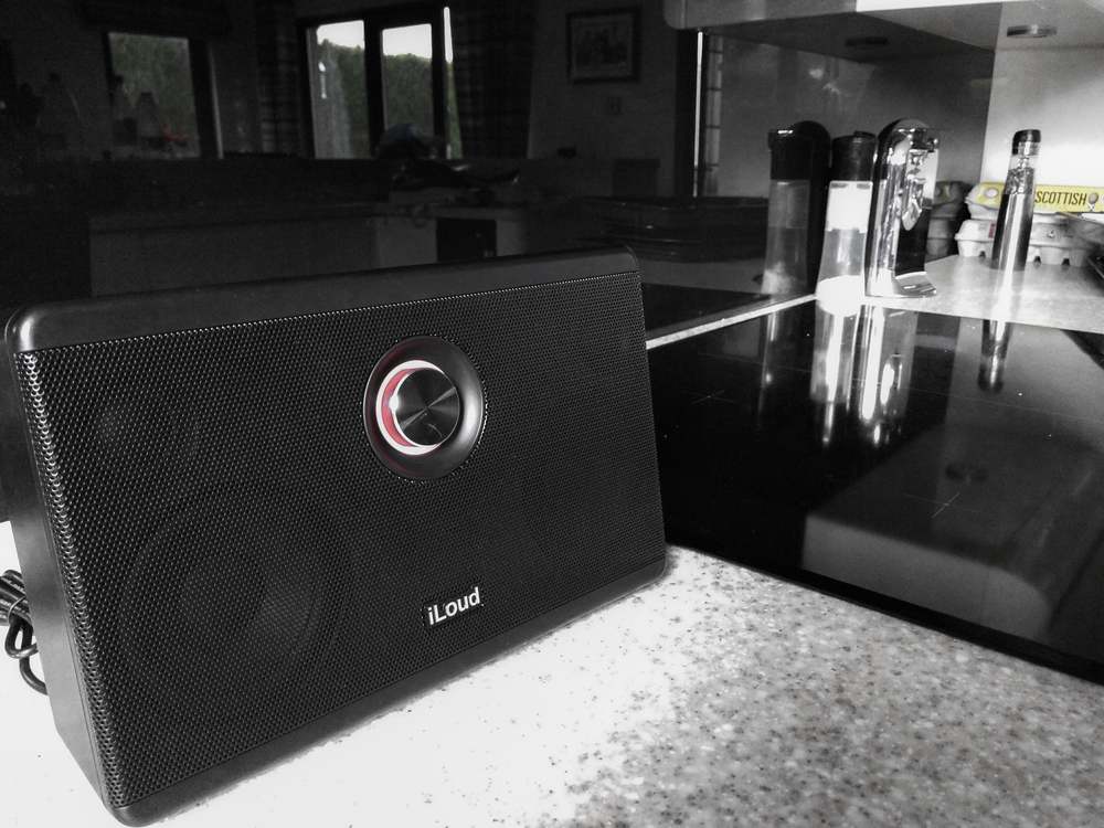 We used the iloud speaker almost every day in the kitchen for the review.