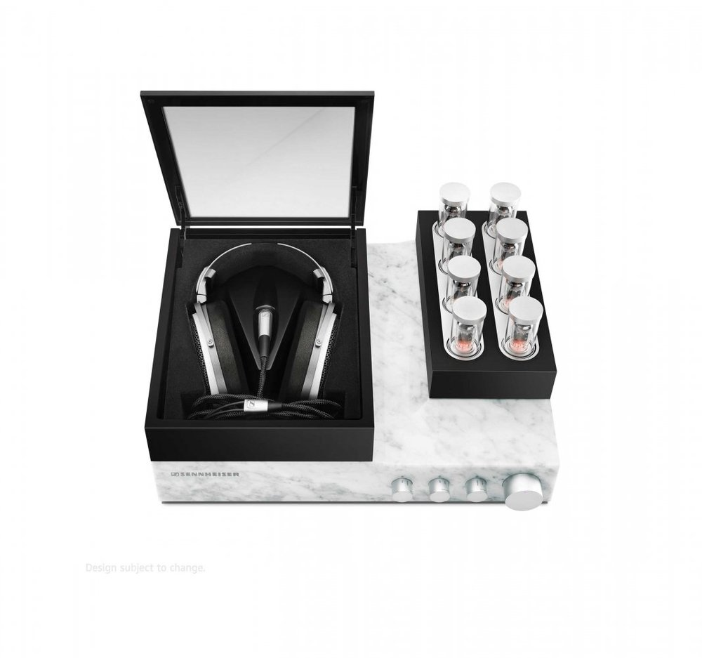 The Sennheiser Orpheus features 8 tube amps and a Carrera marble base unit to reduce sound distortion.