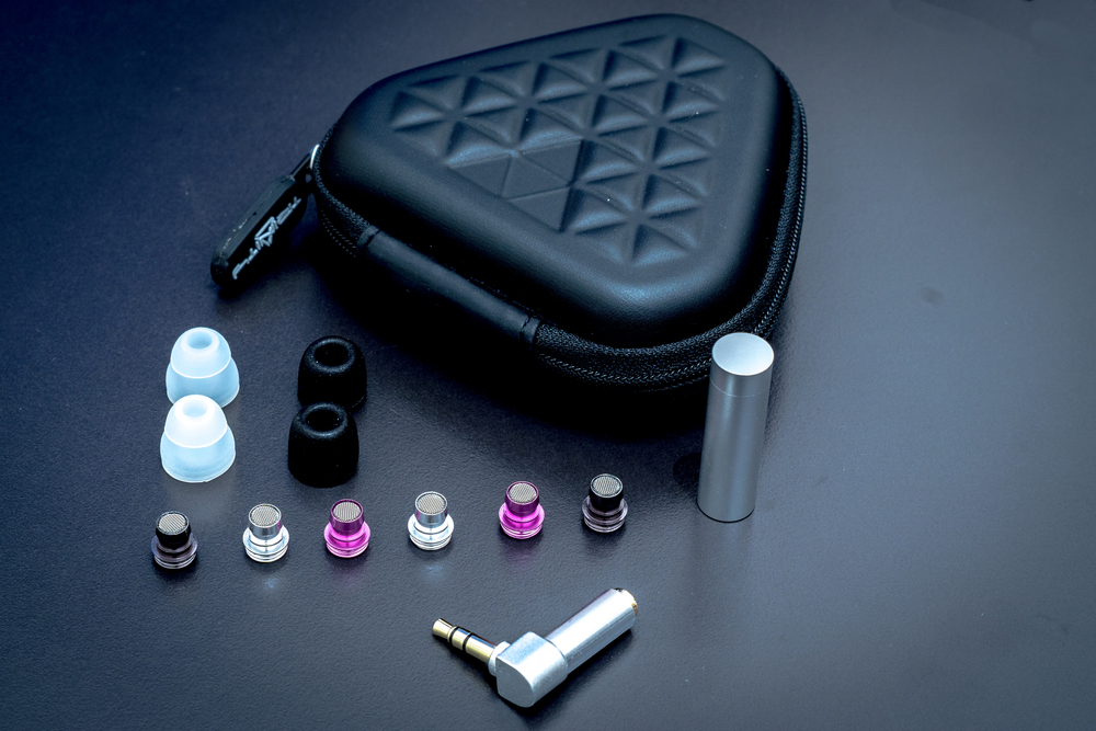 Trinity Audio Delta Earphones Accessory pack and sound filters.