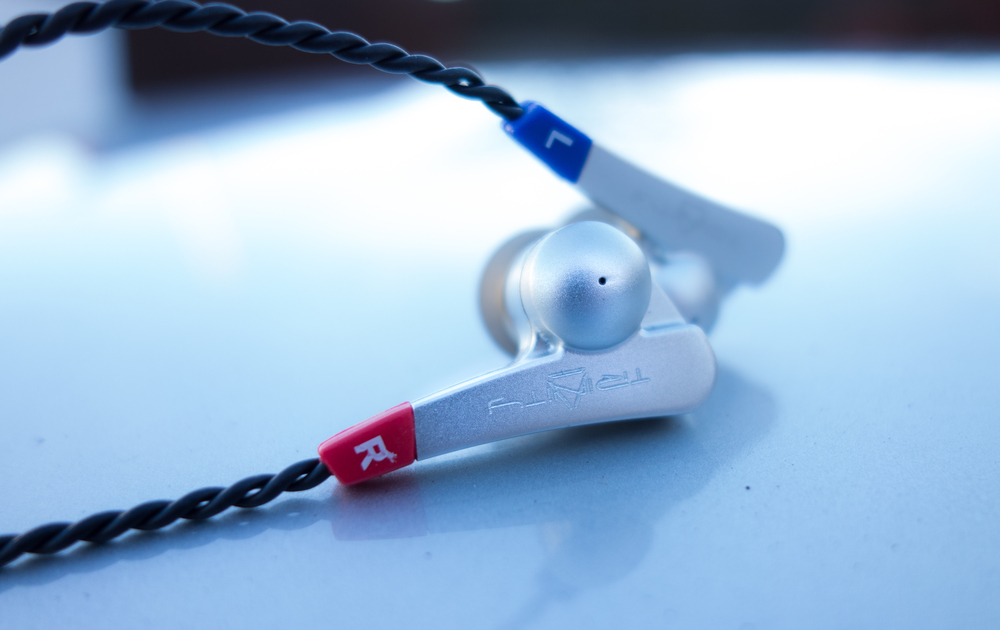 The Trinity Audio Techne earpieces and strain reliefs.