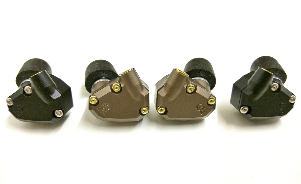 The Campfire Audio Jupiter IEM (Bronze/Gold) and Campfire Audio Orion IEM (Black/Silver)