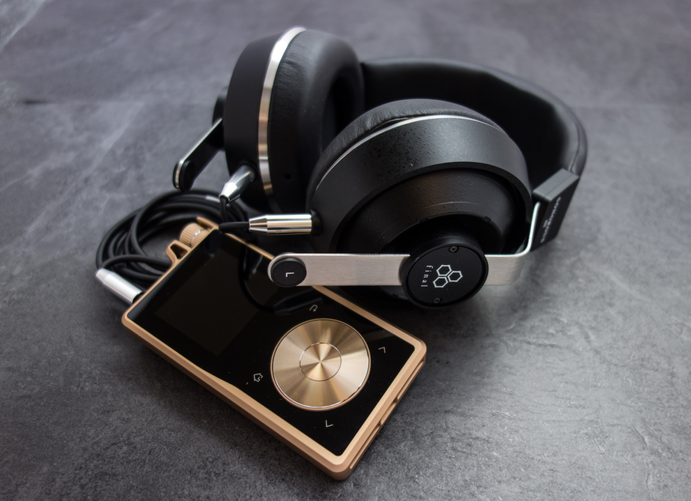 Final audio design sonorous iii headphones paired with the questyle qp1r dap