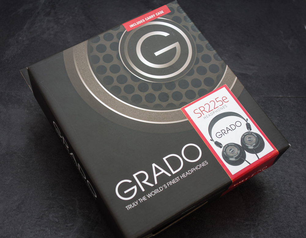 The old pizza box is gone but we quite like the new packaging on the Grado SR225e headphones