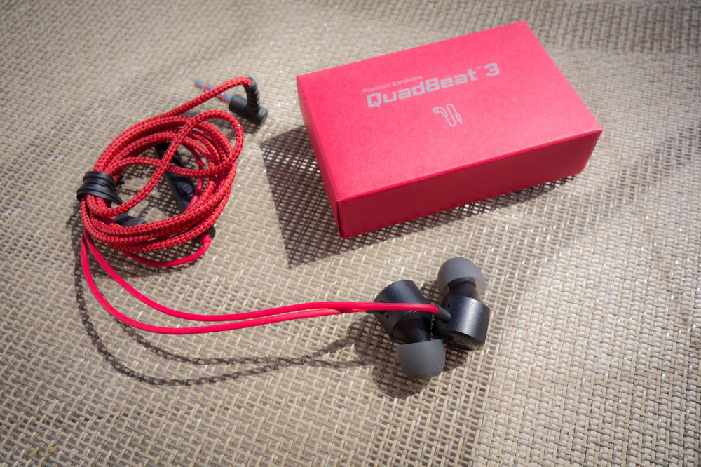 The LG Quadbeat 3 earphones - a budget in-ear headphone that is bundled with high end smartphones or can be bought separately for under $20.