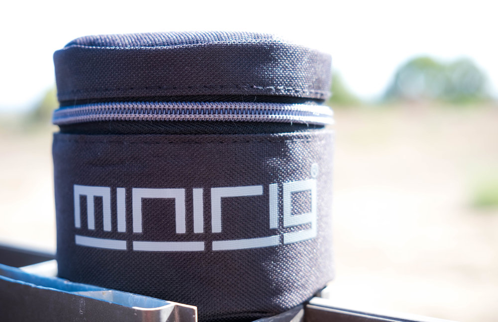 The Minirigs bluetooth speaker comes with this included travel case.  Its simple and the speaker can play music clearly when the top is open.  Something we wish the B&O A1 included out the box.