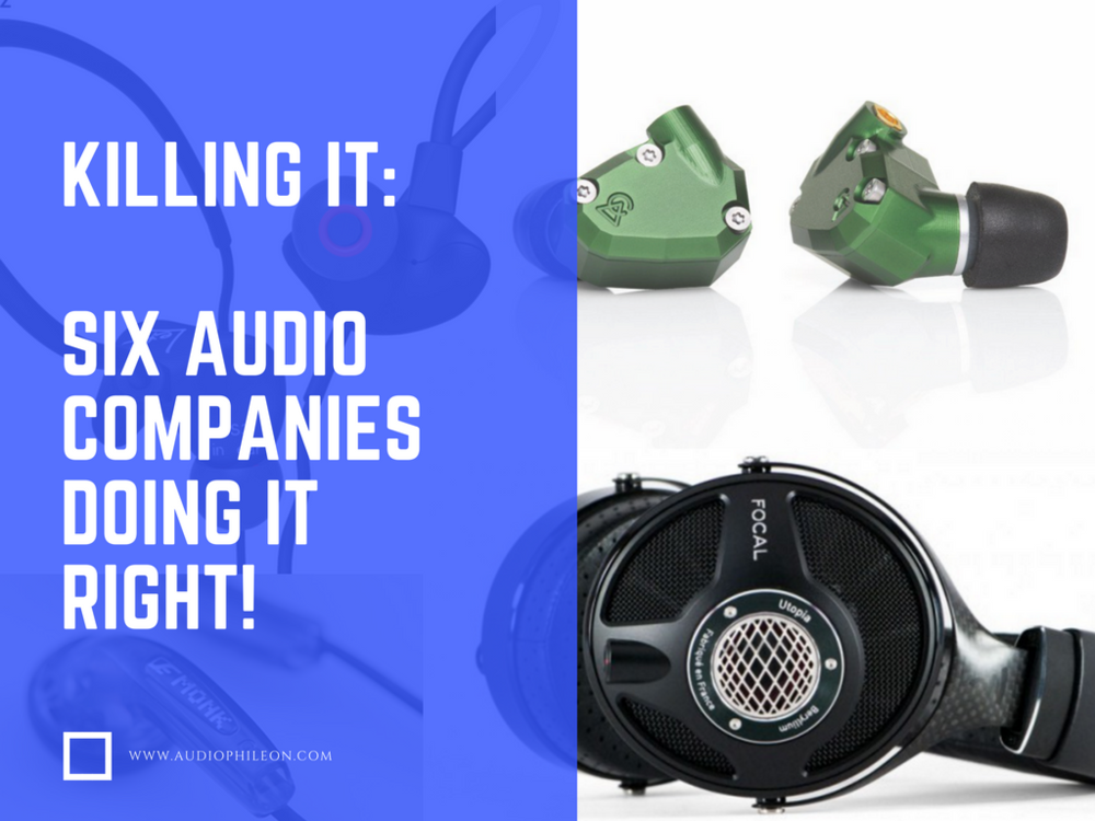 The best audiophile headphone companies top 5 ft. Focal, Campfire Audio, Venture Electronics, Knowledge Zenith, RHA Audio.