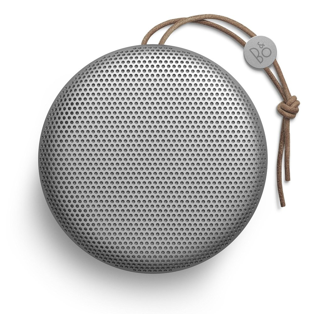 Top view of the Bang & Olufsen Beoplay A1 Bluetooth Speaker.