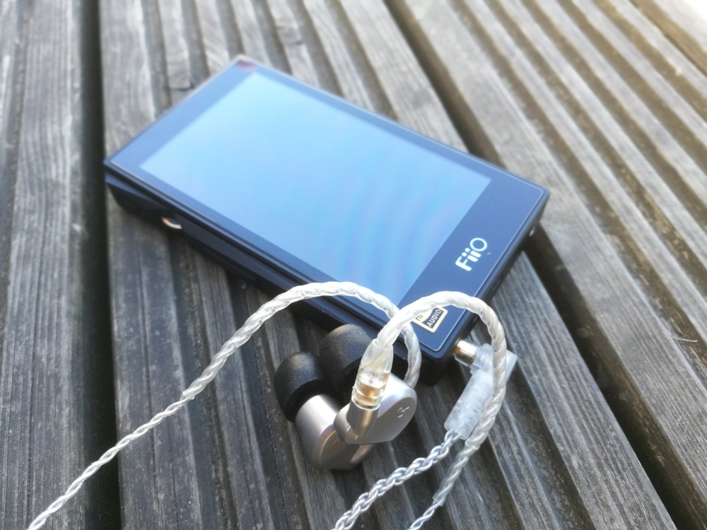 The Fiio X5 3rd Gen high resolution DAP with the Campfire Audio Jupiter earbuds.