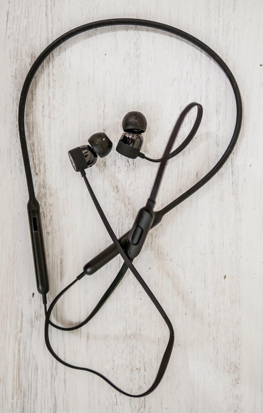 Beats x earphones in black color.