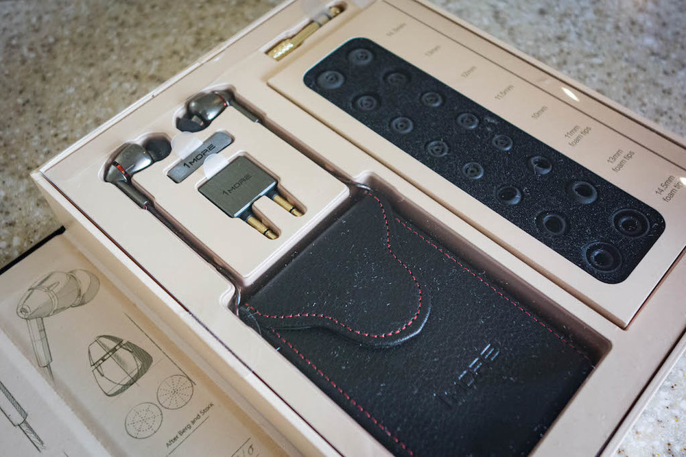 The 1 More Quad driver has some beautiful packaging and some very well made accessories such as a headphone carry case and multiple bespoke designed ear tips.