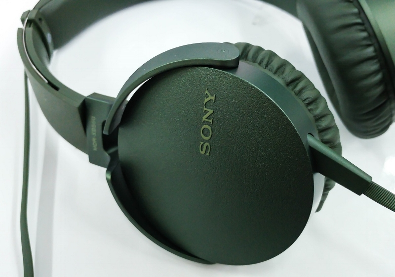 The Sony MDR-XB550 headphones.