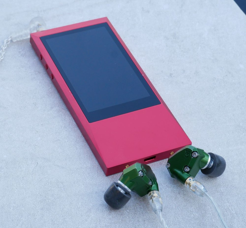 Astell kern AKjr music player with Campfire Audio Andromeda