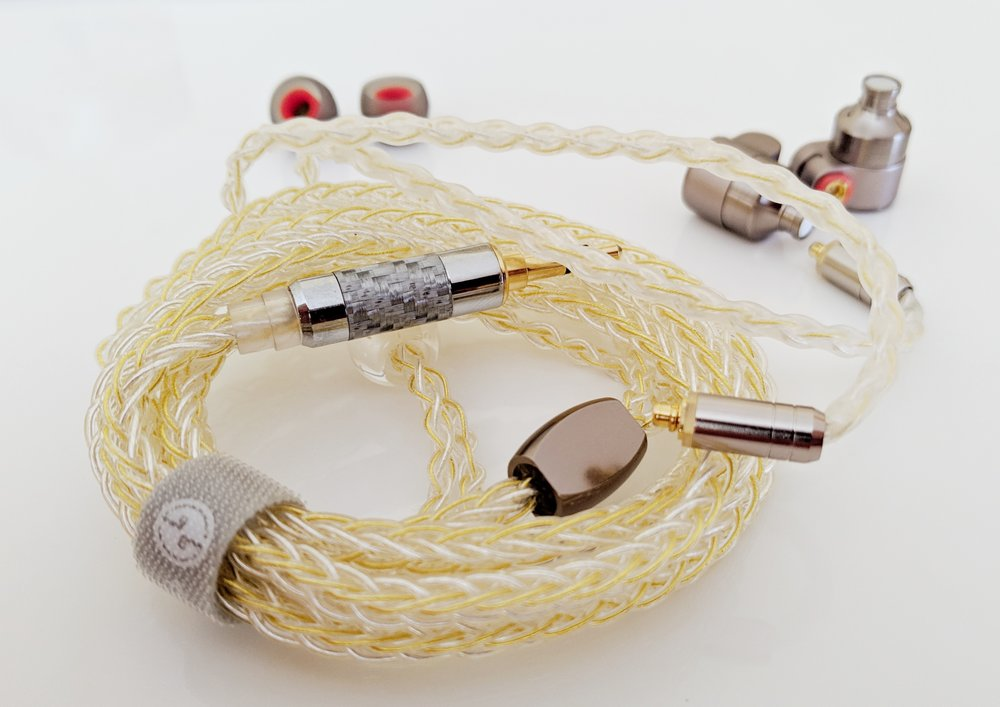 Cable and eartips for the Tin Audio T3.