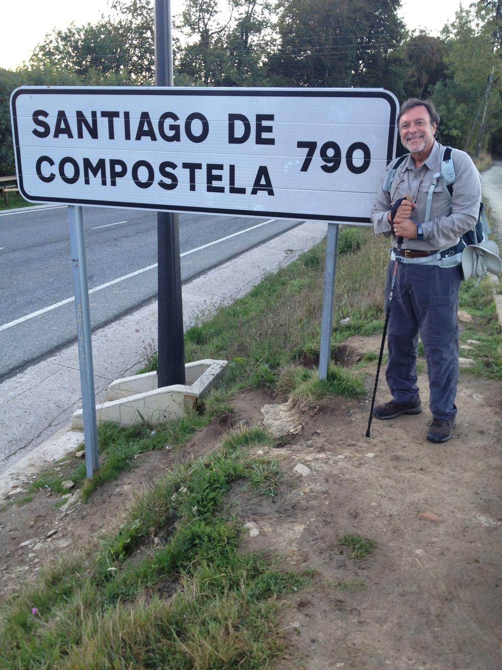 Mike Fernandez Leaving Roncesvalles.jpg