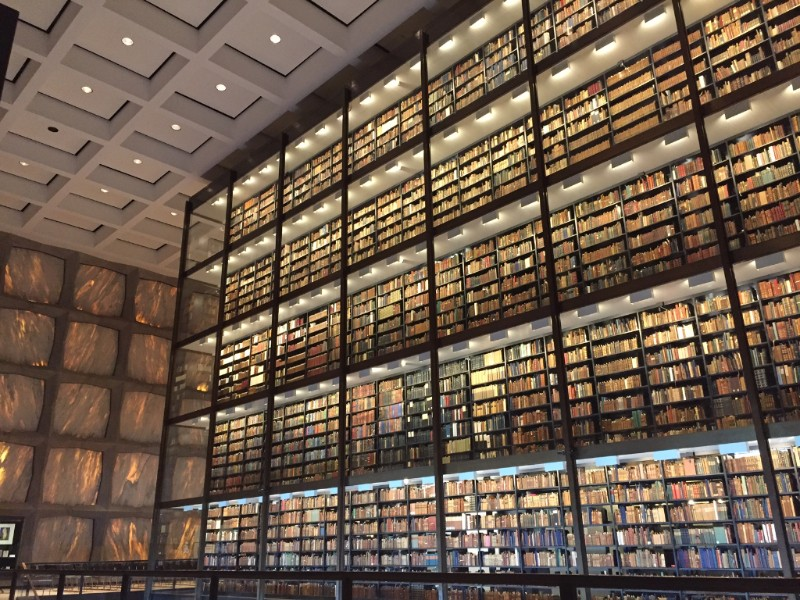 Yale Rare Book library where they have an original Gutenberg Bible and Audubons!