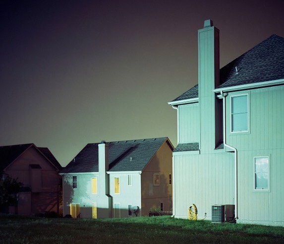 Estates of Parkhurst, 2010 from FAMILIAR PLACES series. #nightscape #suburbs #residential#somewheremagazine #fisheyelemag #featureshoot