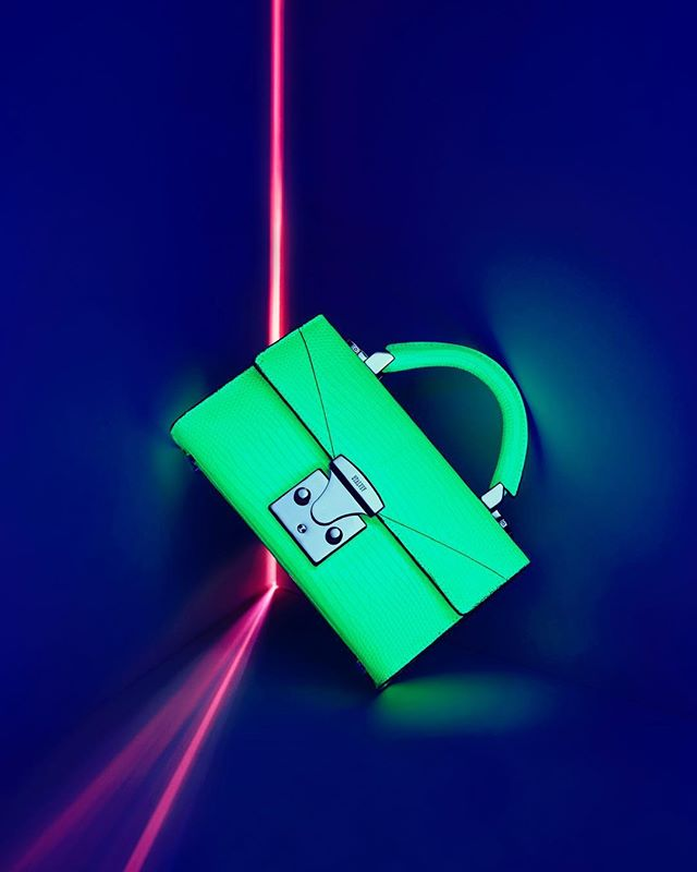 These neon lizard skin bags were a fun collection to shoot.  Brought me back to the long exposure work I did with nightscapes. #stalveyhandbags #luxuryhandbags #neonphotography #neonphotoshoot#featureshoot#longexposurephotography