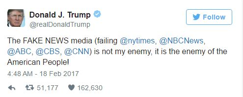 Trump Fake News Tweet