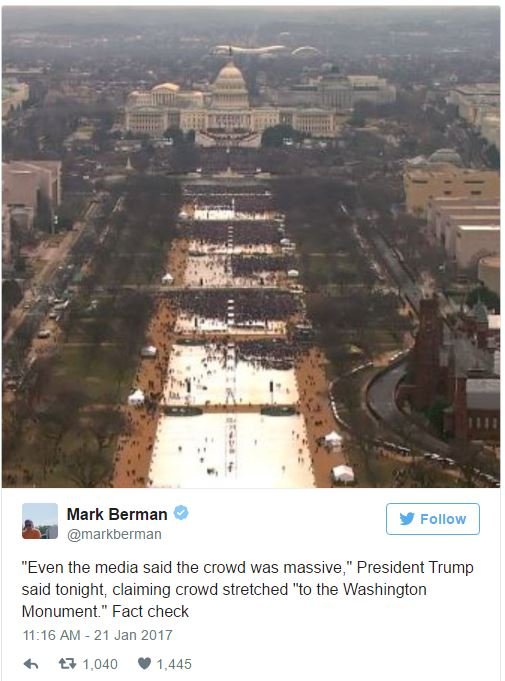Trump Inauguration Crowd