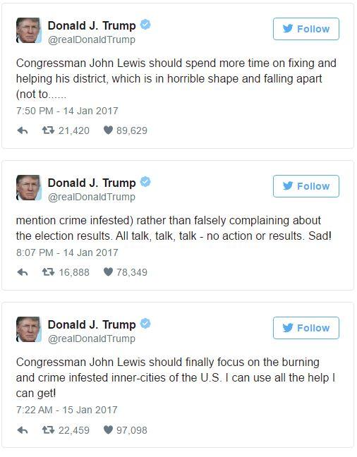 Trump John Lewis