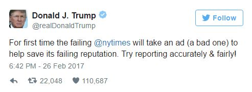 trump responded to the times