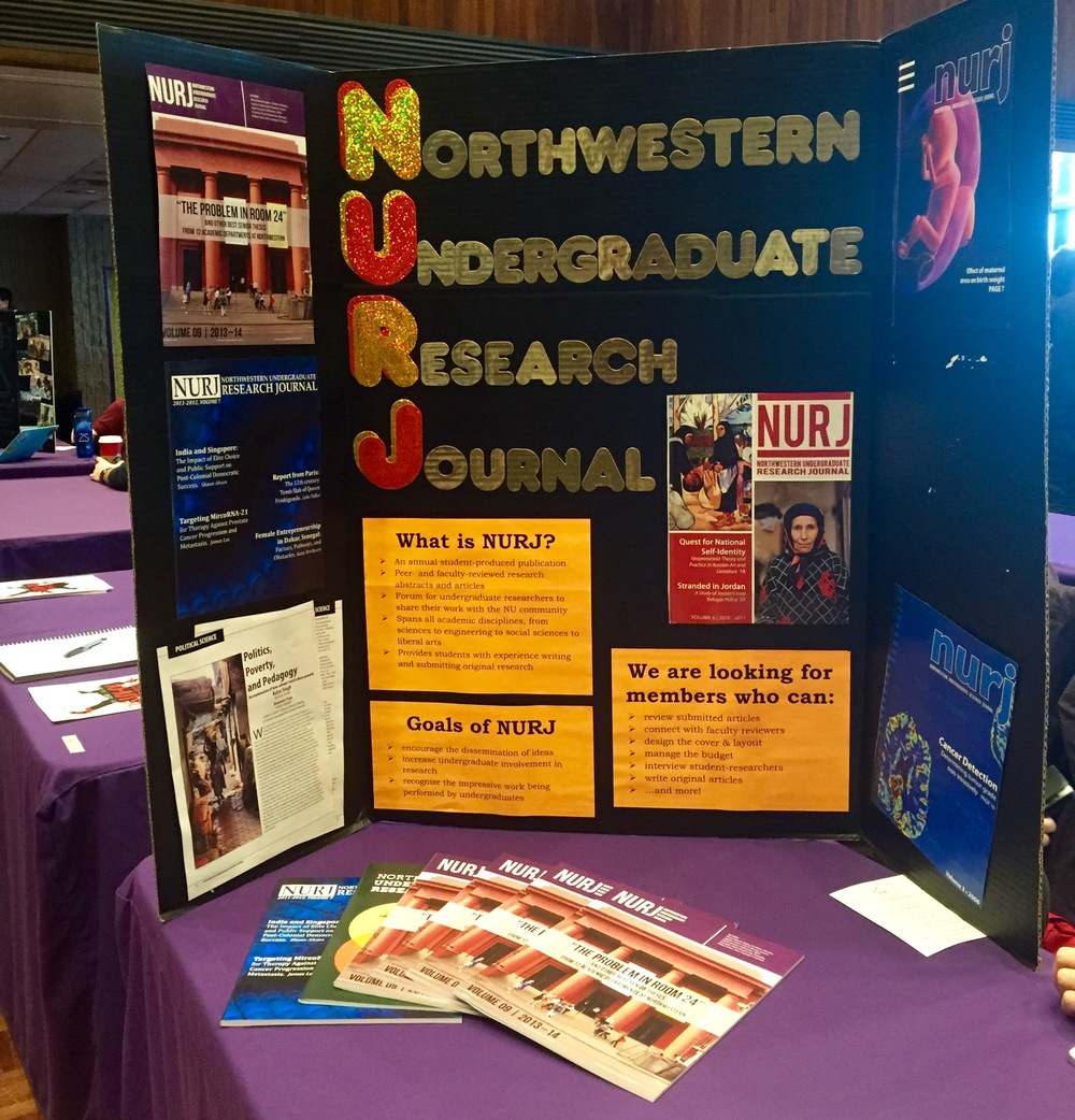The NURJ booth at the Winter Activities Fair 2015.
