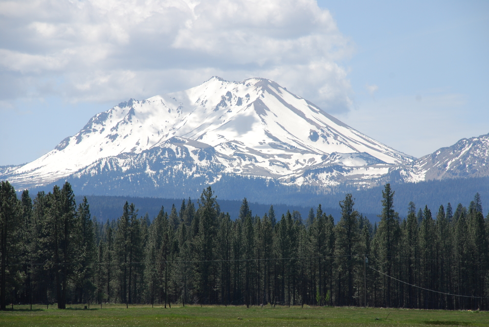 Mt. Lassen towers over the Swicegood Ranch