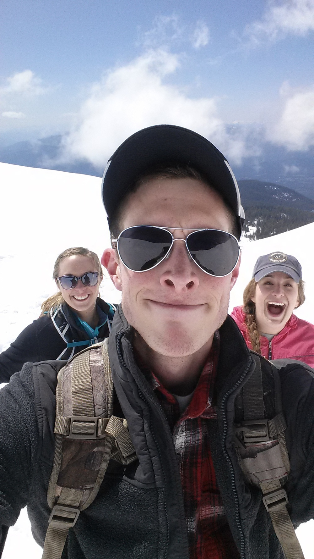 Jake and his cousins at 9,000 ft