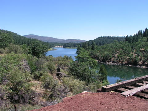 The Great Shasta Rail Trail above Lake Britton