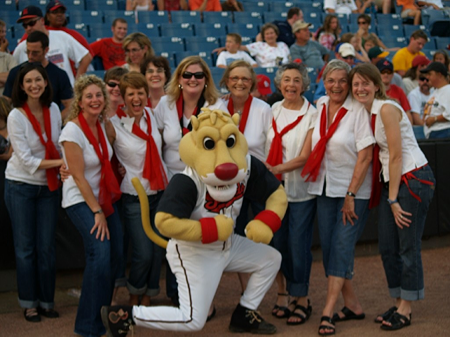 The Nashville Belles perform The Star-Spangled Banner at a Nashville Sounds game, 2009.