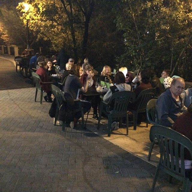 Beautiful, warm, festive night tonight outside on the patio!