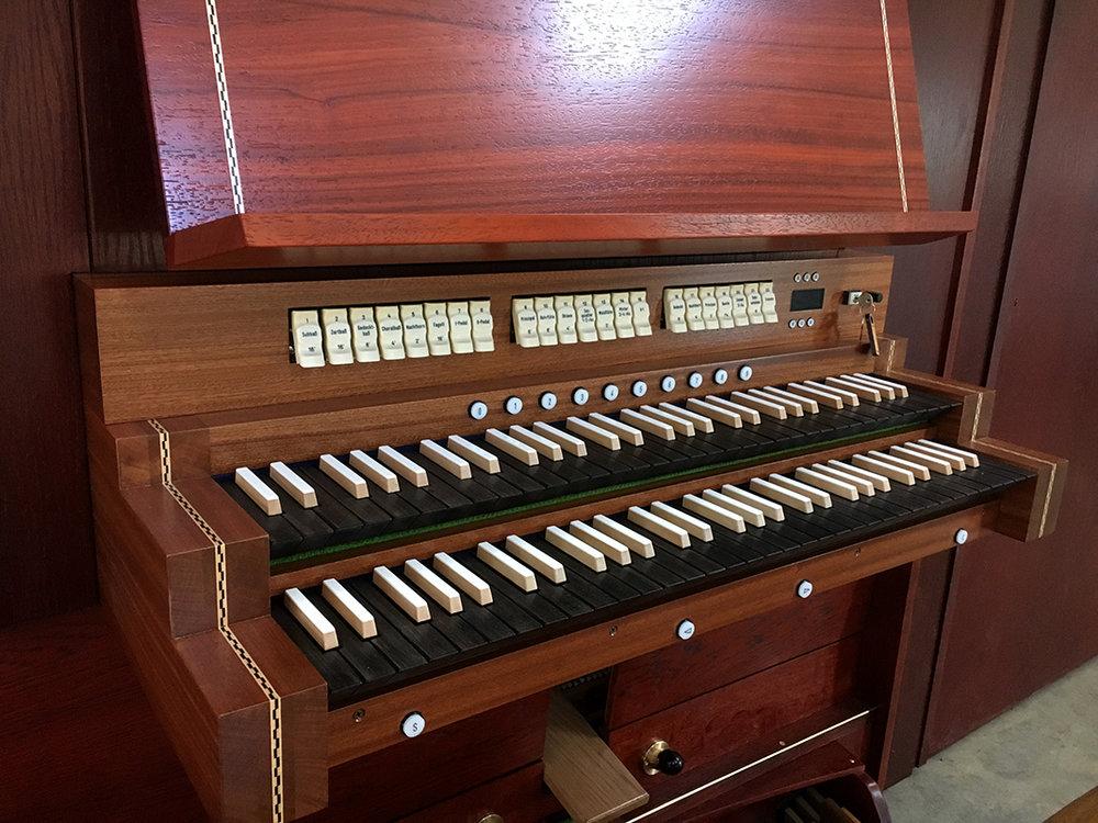 All Saints Lutheran Church - key desk close-up
