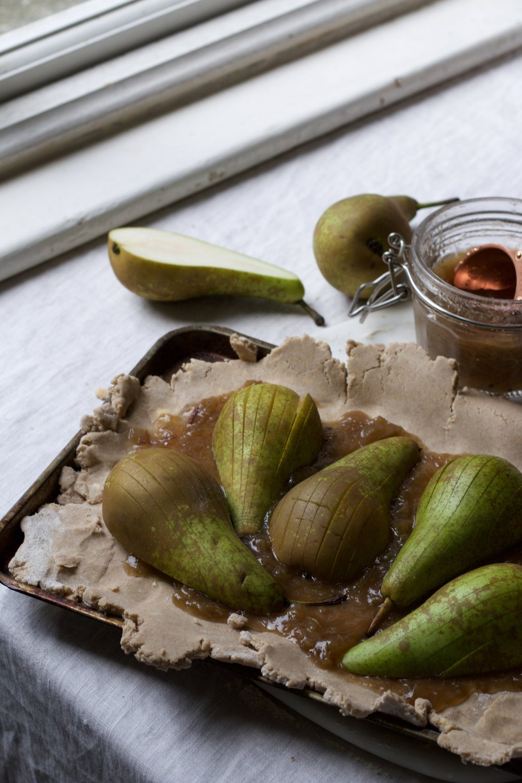 Jette Virdi's buckwheat pear tart
