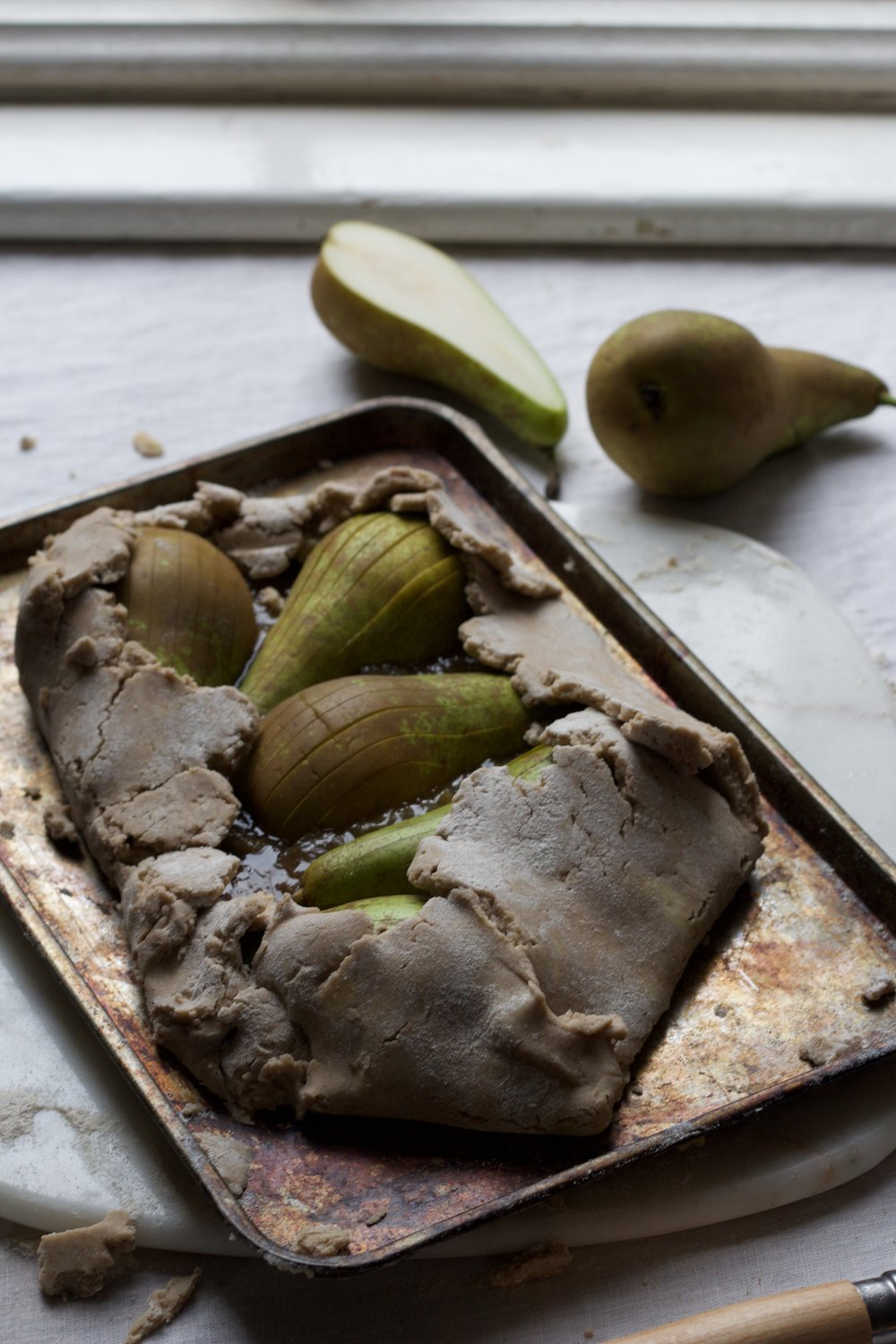 Buckwheat pear tart
