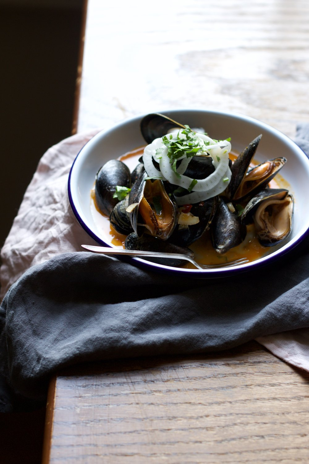 Mussels styled by Jette Virdi