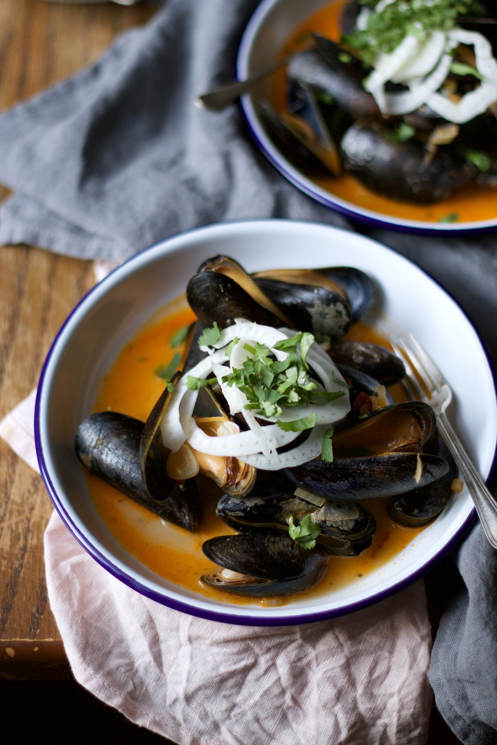 Mussels styled by food stylist Jette Virdi