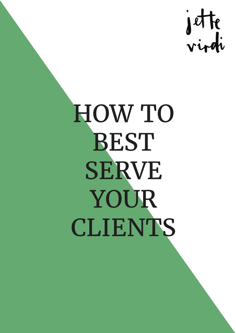 How to best serve your clients by Jette Virdi, food stylist based in London and Dublin