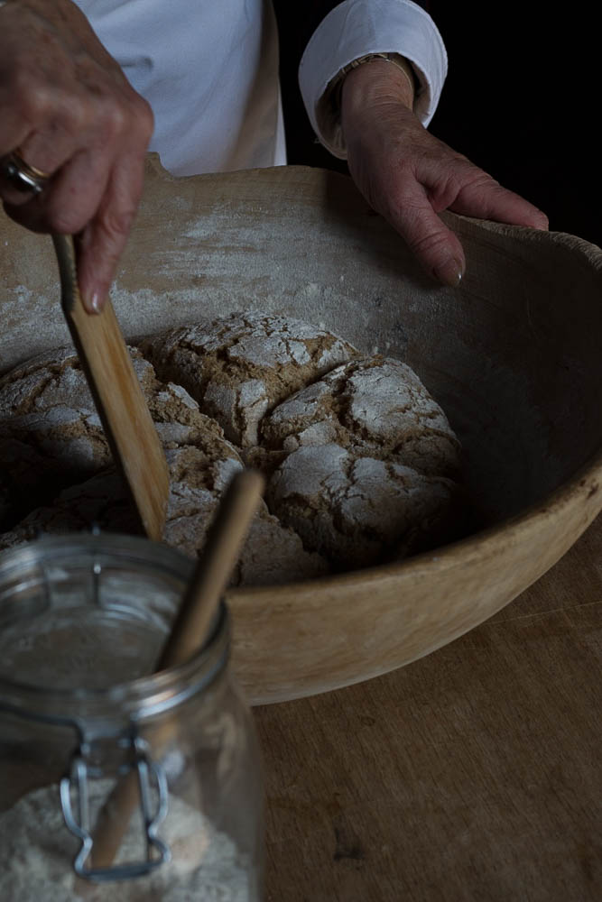 Yvonne making rye bread photographed by Jette Virdi, food stylist and photographer based in Dublin, Ireland and London