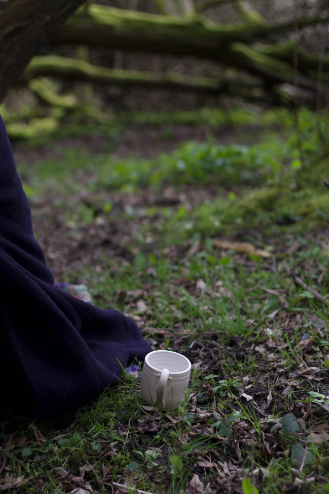 cup in the forest shot by food stylist, photographer and entrepreneur, Jette Virdi based in London, Dublin and Portugal