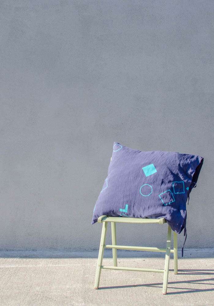 irish linen pillow cases by Jette Virdi for homeware range. Created and Found, made in Ireland