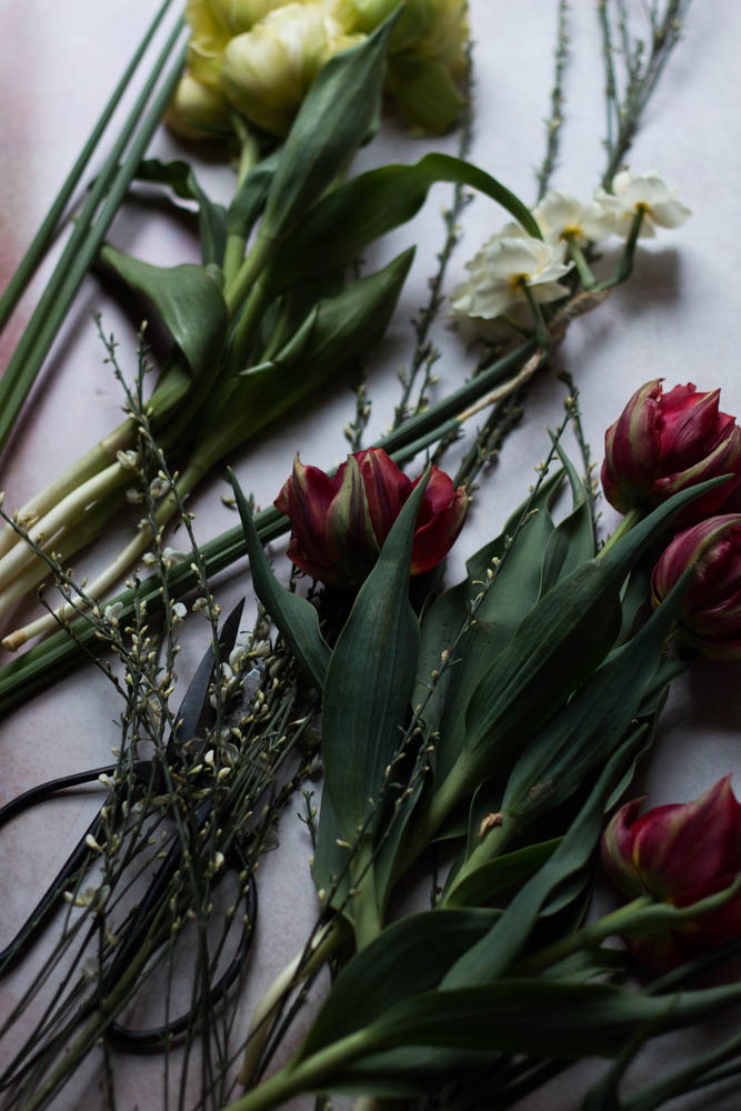 Jette Virdi, stylist and photograher plays with blooms. Based in London and Dublin, Jette works as a freelancer